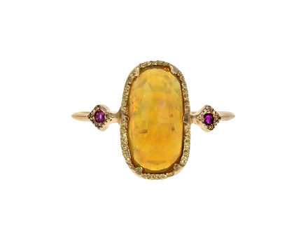 Opal and Ruby Ring