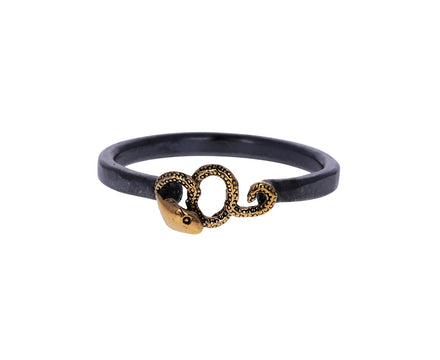 Silver and Gold Tiny Serpent Ring