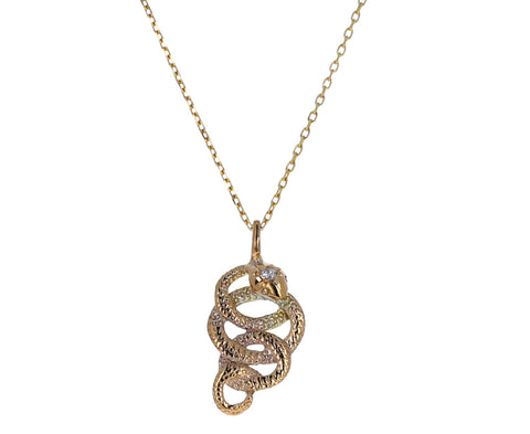 Large Serpent Pendant Necklace