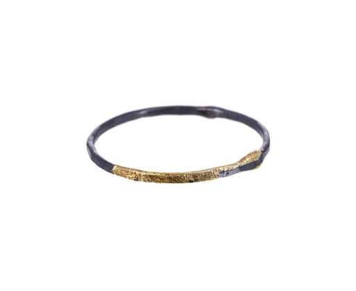 Thin Silver and Gold Ring - TWISTonline