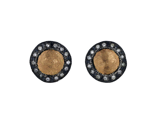 Round Silver, Gold and Diamond Studs