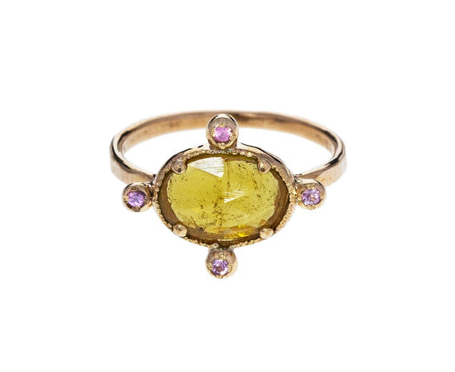 Yellow Sapphire and Pink Tourmaline Ring - TWISTonline