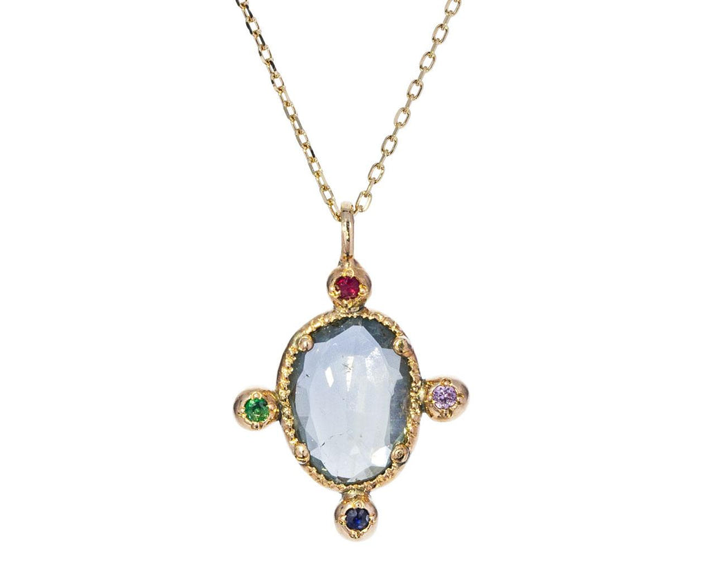 Blue Sapphire Emerald Ruby Necklace - TWISTonline
