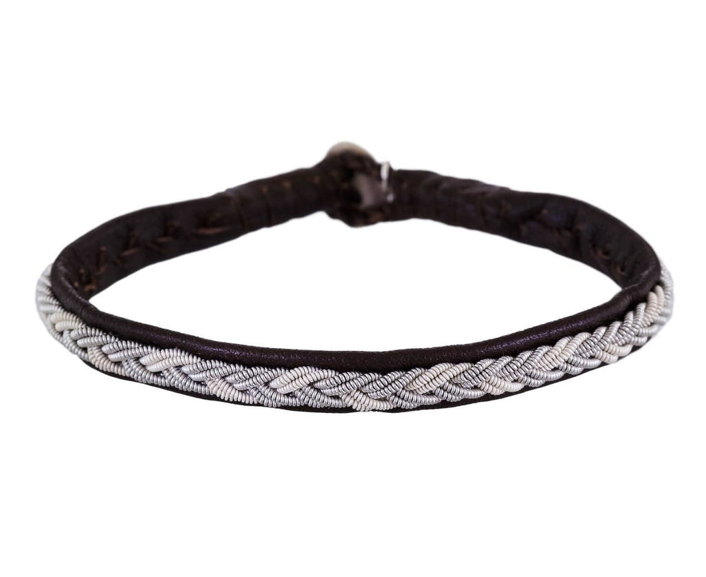 Braided White and Silver Pewter Bracelet - TWISTonline