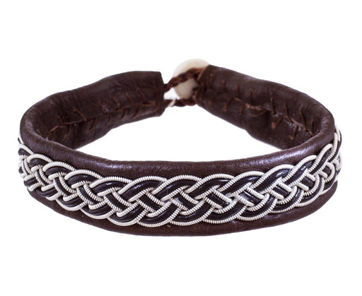 Leather and Woven Pewter Bracelet - TWISTonline