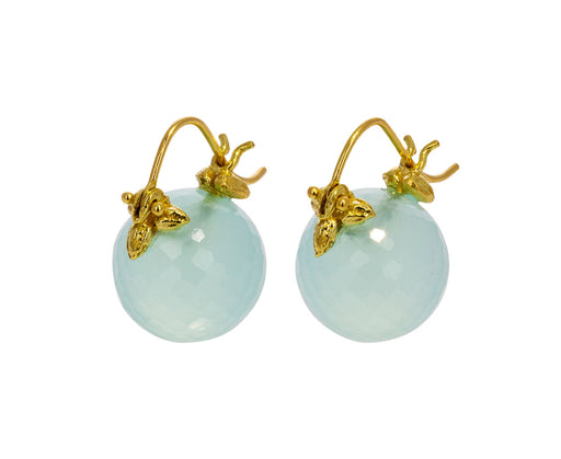 Pale Blue Chalcedony Earrings - TWISTonline