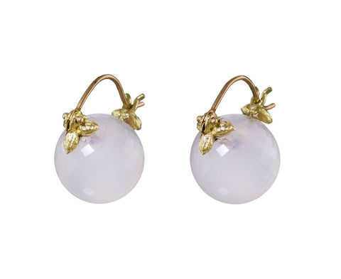 White Chalcedony Drop Earrings - TWISTonline
