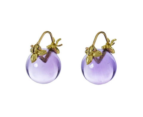 Smooth Amethyst Drop Earrings - TWISTonline