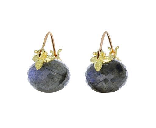 Faceted Baby Labradorite Earrings