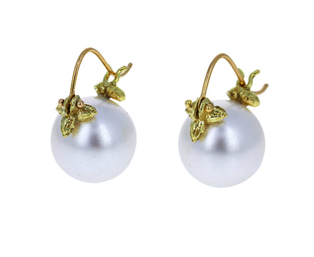 Smooth White South Sea Pearl Earrings - TWISTonline