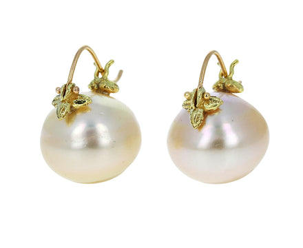 Creamy Gold South Sea Pearl Earrings - TWISTonline