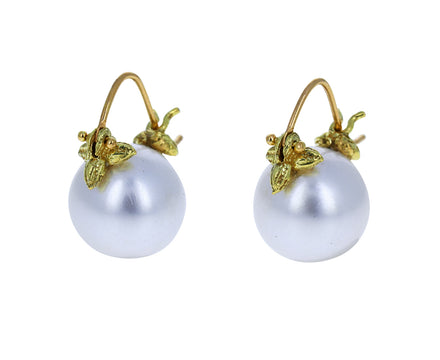 Round White South Sea Pearl Earrings - TWISTonline