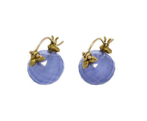 Blue Chalcedony Earrings - TWISTonline