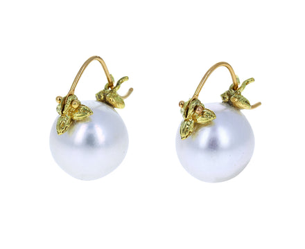 White South Sea Pearl Earrings - TWISTonline