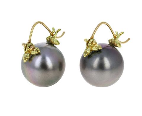 Lustrous Pale Gray Tahitian Pearl Earrings - TWISTonline