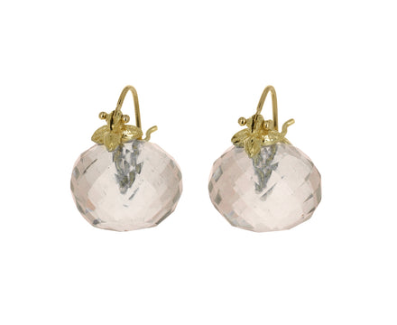 Pale Gray Smoky Quartz Earrings