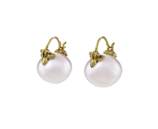 White South Sea Pearl Orb Earrings - TWISTonline