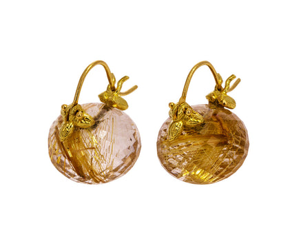 Golden Rutilated Quartz Earrings - TWISTonline