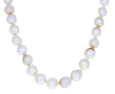 White Baroque Biwa Pearl Necklace