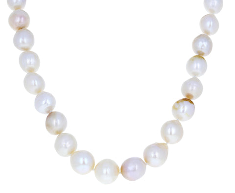 White Baroque Biwa Pearl Necklace - TWISTonline