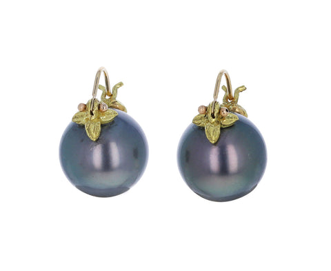 Black Tahitian Pearl Earrings