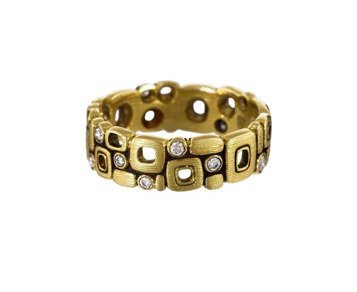 Gold and Diamond Little Windows Band zoom 1_alex_sepkus_gold_diamond_little_windows_ring