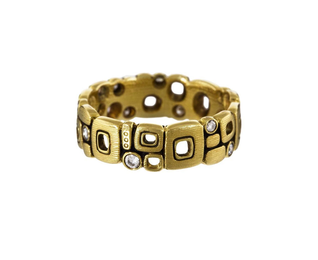 Gold and Diamond Little Windows Band zoom 2_alex_sepkus_gold_diamond_little_windows_ring