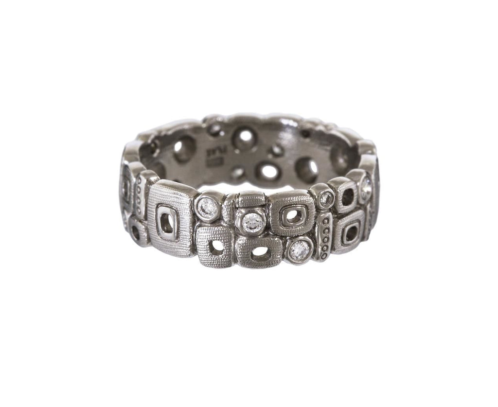 Platinum and Diamond Little Windows Band zoom 1_alex_sepkus_platinum_diamond_little_windows_ring
