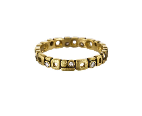 Gold and Diamond Micro Windows Band zoom 1_alex_sepkus_gold_diamond_micro_windows_ring