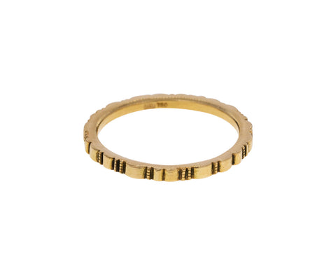 Yellow Gold Ridges Band - TWISTonline