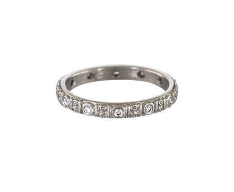 Platinum Circle Band with Diamond zoom 1_alex_sepkus_platinum_diamond_circle_band_ring
