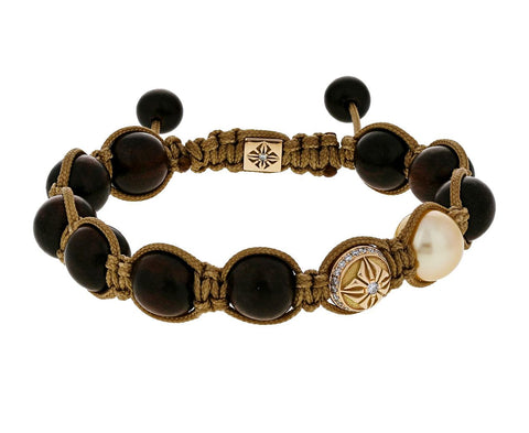 Ebony Pearl and Gold Bead Bracelet - TWISTonline