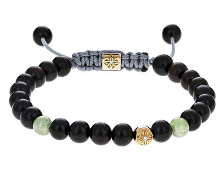 Ebony and Green Sapphire Bead Bracelet - TWISTonline