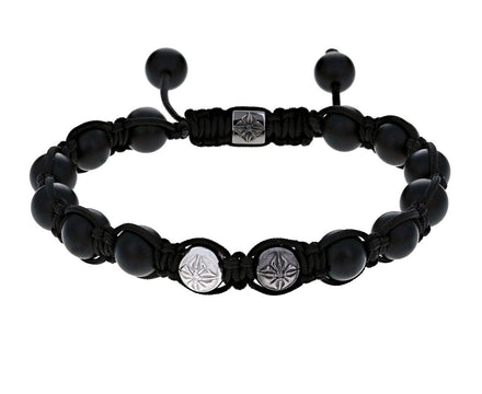 Black Onyx and White Gold Bead Bracelet - TWISTonline
