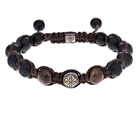 Black Ceramic and Brown Sapphire Bead Bracelet - TWISTonline