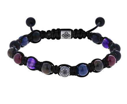 Sapphire, Ruby, Diamond, and Onyx Bead Bracelet - TWISTonline