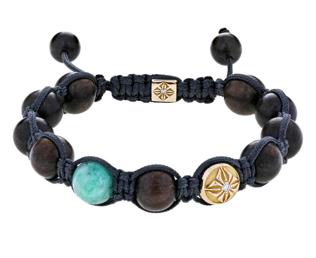 Emerald, Ebony, and Gold Bead Bracelet - TWISTonline