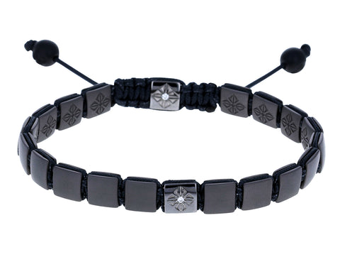 Titanium Ceramic and Diamond Bead Bracelet - TWISTonline