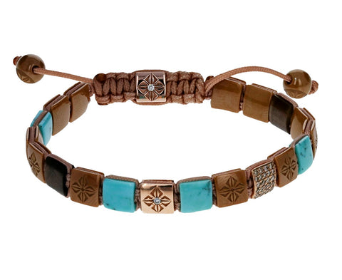 Turquoise Sapphire Ceramic and Diamond Bracelet