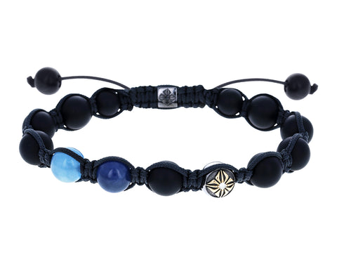 Onyx, Sapphire, Aquamarine and Gold Bead Bracelet - TWISTonline