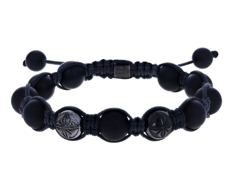 Shamballa Jewels Onyx Beaded Bracelet