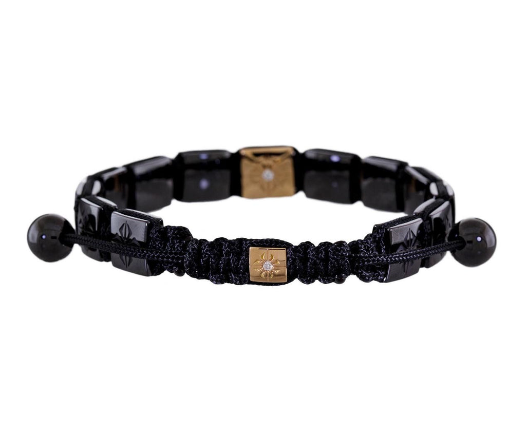 Square Ceramic and Rose Gold Lock Bead Bracelet - TWISTonline