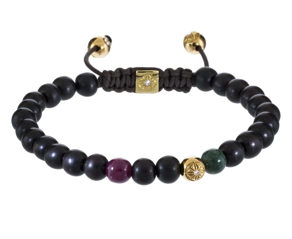 Ruby Marble Ebony and Gold Bead Bracelet zoom 1_shamballa_gold_ruby_ebony_bead_bracelet