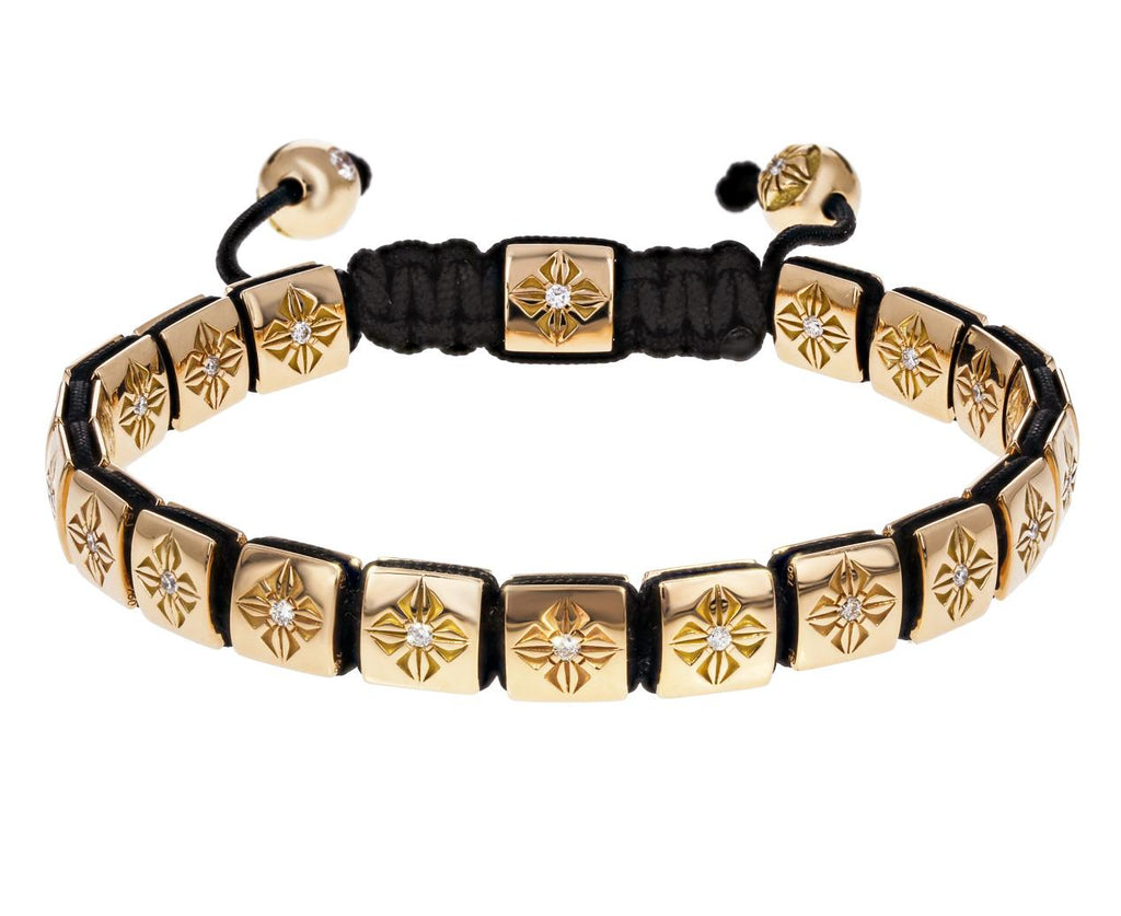 Gold Diamond Lock Bracelet zoom 1_shamballa_gold_diamond_square_bead_bracelet