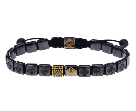 Black Diamond and Ceramic Bead Bracelet