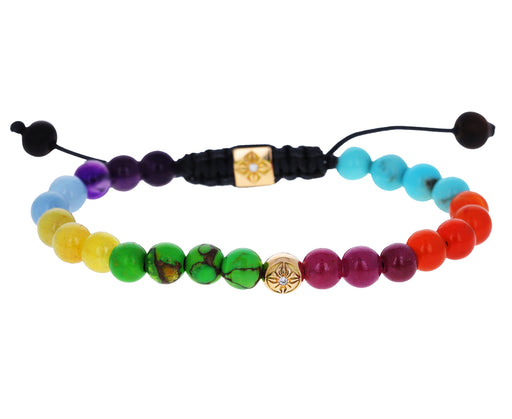 Rainbow Mixed Gem Bead Bracelet