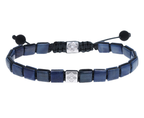 Blue Sapphire and Diamond Bead Bracelet