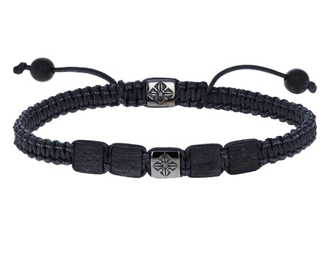 Carbon Fiber Ceramic Beaded Bracelet