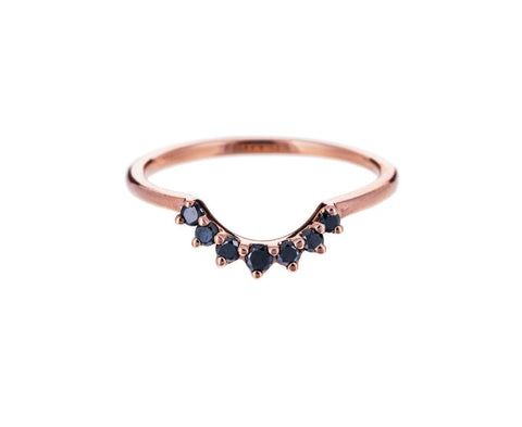 Rose Gold Black Diamond Grand Tiara Ring - TWISTonline