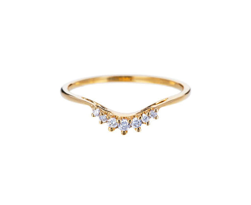Yellow Gold Diamond Luna Tiara Band - TWISTonline